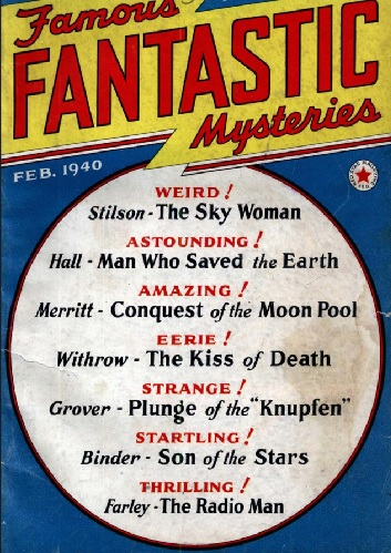 JPG image pof Cover of Feb 1940 pulp magazine Famous Fantastic Mystreries