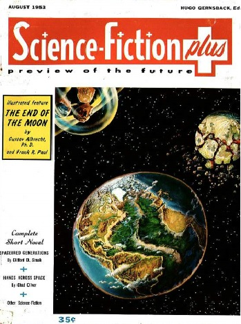 JPG image of Cover of Science Fiction Plus magazine featuring Simak story