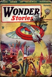 JPG image of the cover of the Wonder Stories 1934 pulp in which appeared The Living Galaxy