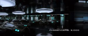 Image of the Avalon's passengers in stasis pods